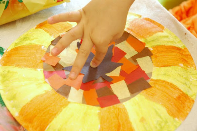 Fall Suncatcher Leaf Craft for Kids