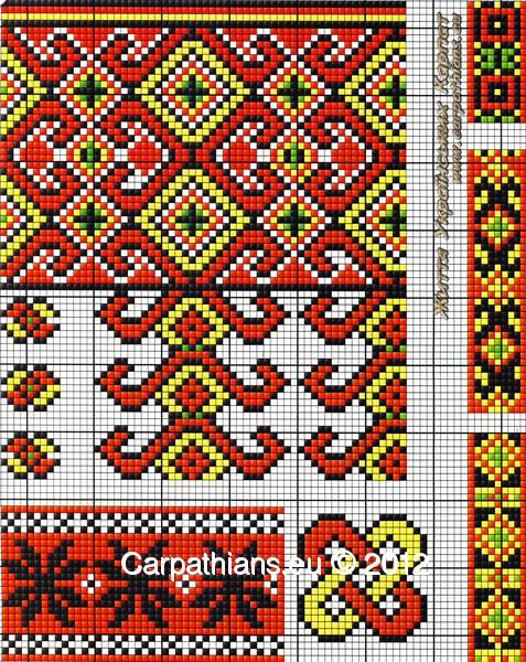 Гуцульський орнамент вишиванки №25. d1847b8773206