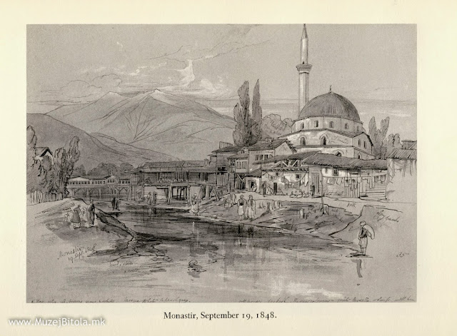 Edward Lear, Битола 19 септември 1848 година. Работен цртеж.