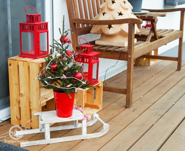 Weihnachtsdekoration für die Terrasse - Blog Topfgartenwelt
