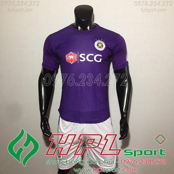 Áo đá bóng câu lạc bộ Hà Nội màu tím
