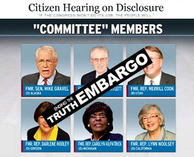 $20,000 Pay-Day for Former Congressmen Re Fake Hearing On UFOs & ET