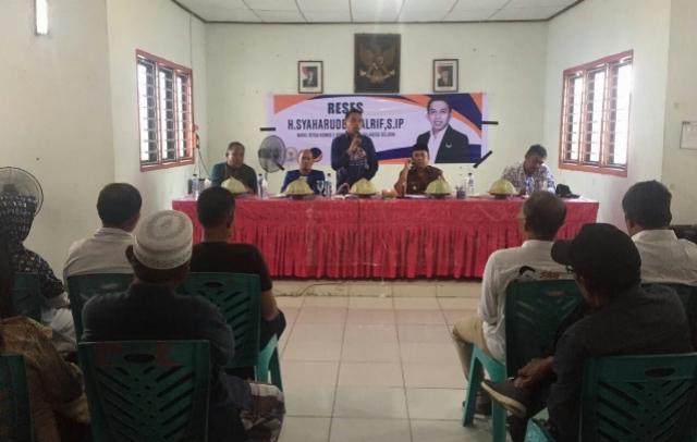 Serap Aspirasi Masyarakat Syahar Reses di 3 Kecamatan di Sidrap