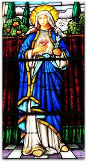 Vitral Sagrado Coração de Maria - Igreja Sagrado Coração de Jesus, Restinga Seca