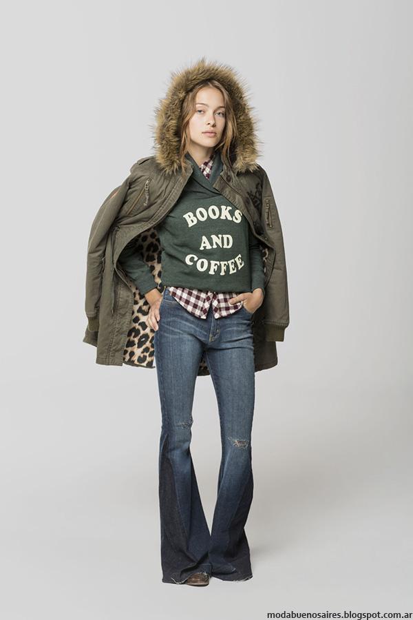 Pantalones oxford invierno 2016 Cook Mujer. Moda invierno 2016 Mujer vintage urbano.