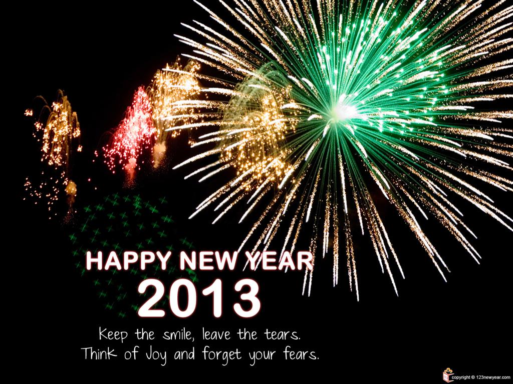 Happy New Year Greeting Clip Art