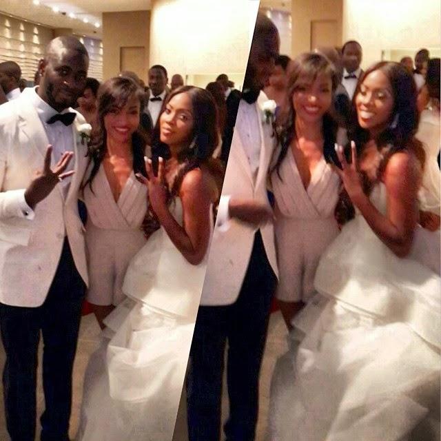tiwa savage wedding reception