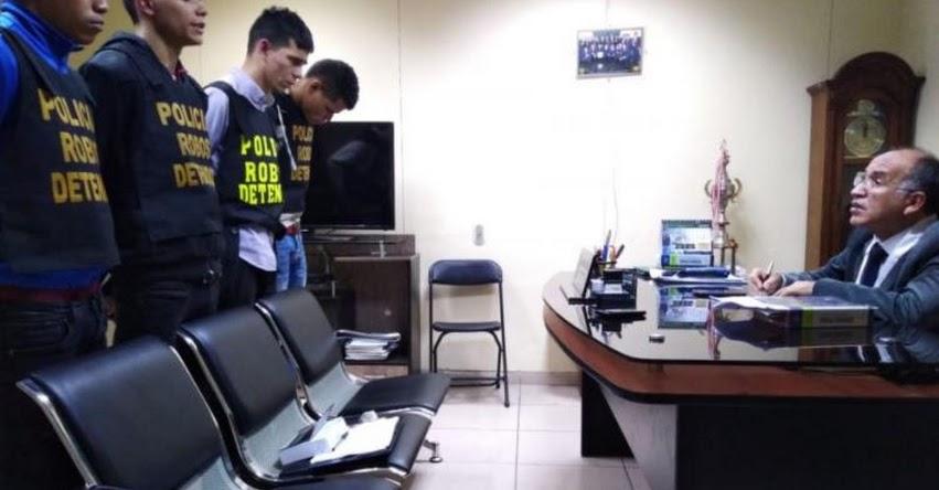 Policía captura a 5 venezolanos que iban asaltar banco en Plaza Lima Norte
