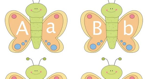 Classroom Freebies: Butterfly Alphabet Cards