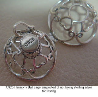 image of fake harmony ball cage showing c925