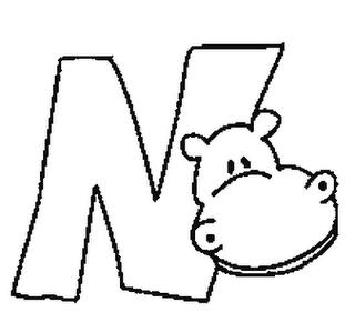 Abecedario De Animales Letra N Para Colorear Dibujos Para Colorear