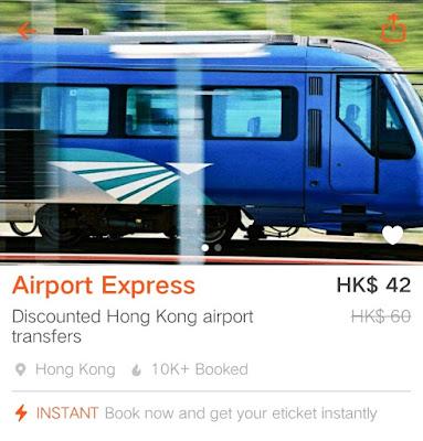 Klook Promo Code 2016, Hong Kong Airport Express Ticket