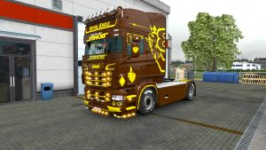 Royal Eagle skin for Scania RJL