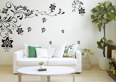 jolies id es de papier peint pour le salon d cor de. Black Bedroom Furniture Sets. Home Design Ideas