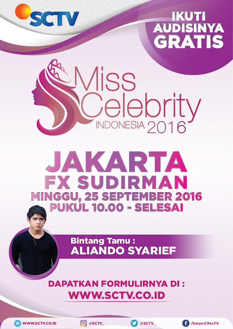 Ayo Kunjungi Audisi Miss Celebrity 2016 di Jakarta