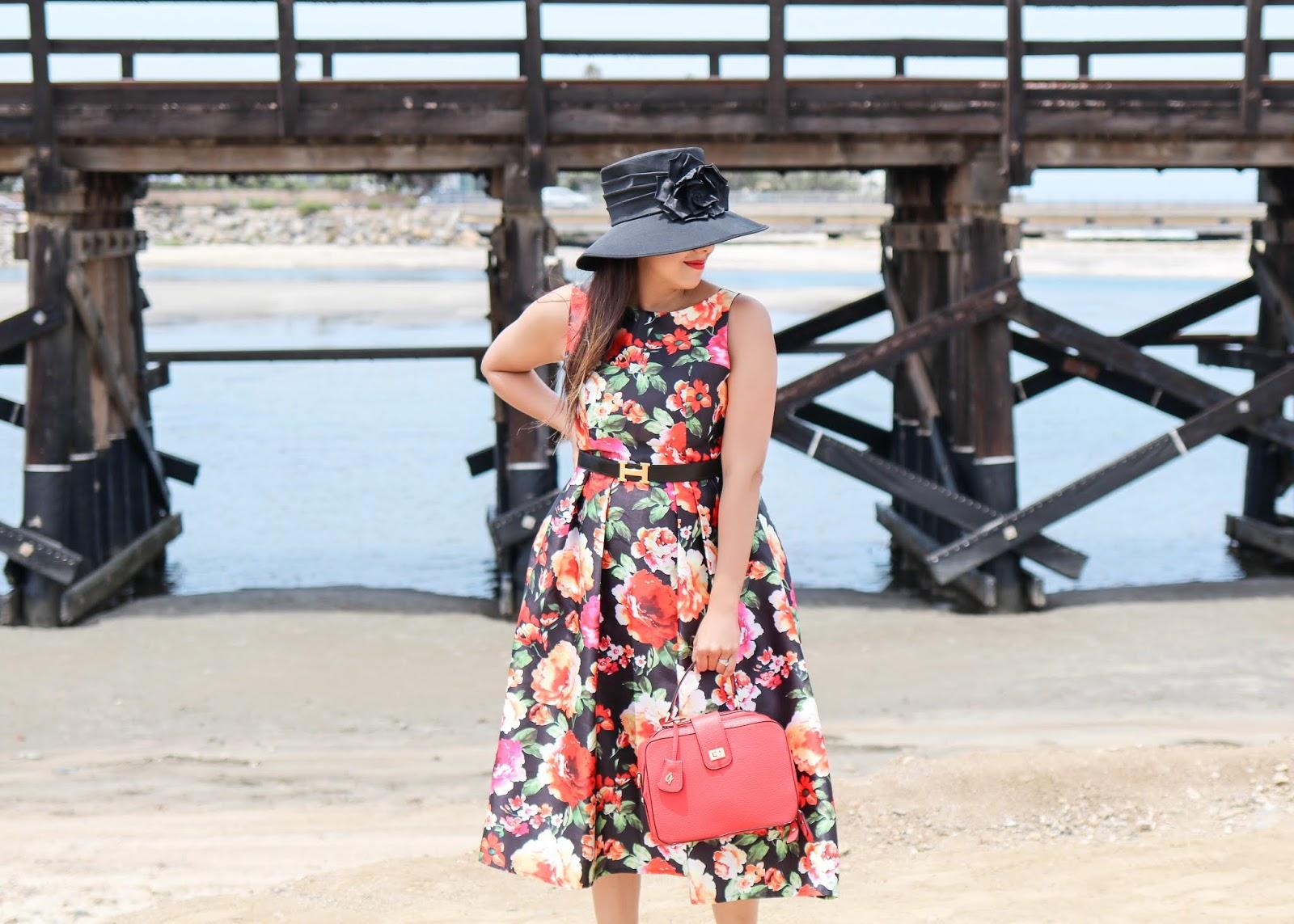 how to wear a big derby hat, derby fashion, racetrack fashion