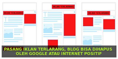 pasang-iklan-terlarang-blog-dihapus-google