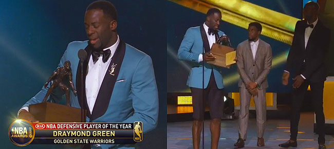NBA Defensive Player Of The Year: Draymond Green (FULL SPEECH) NBA Awards Show 2017