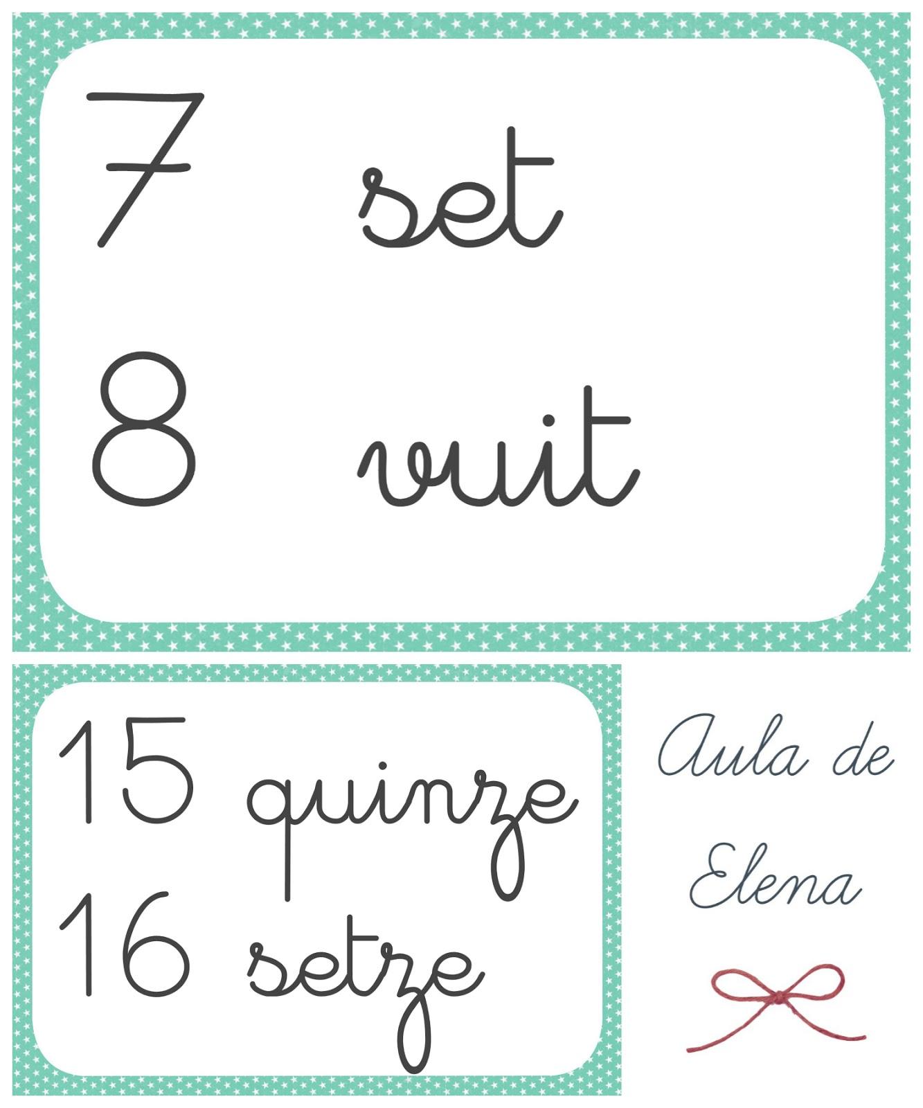 Números Y Etiquetas Para El Aula Aula De Elena
