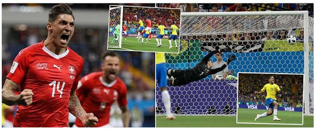 #WorldCup: Brazil failed to beat Switzerland as Steven Zuber header cancels out Coutinho's stunning opener (Video Highlights)
