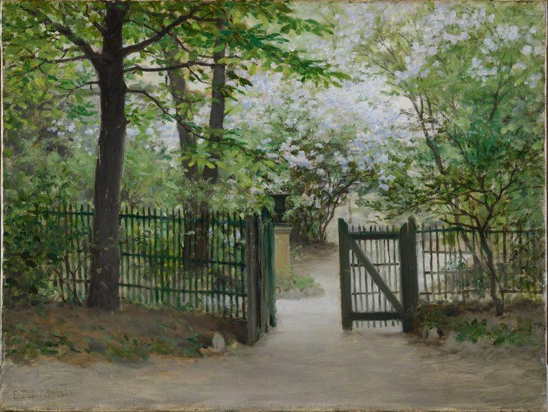 Édouard Debat-Ponsan - Le jardin du peintre à Paris