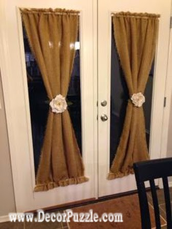 Country Style Curtains For French Doors Curtain