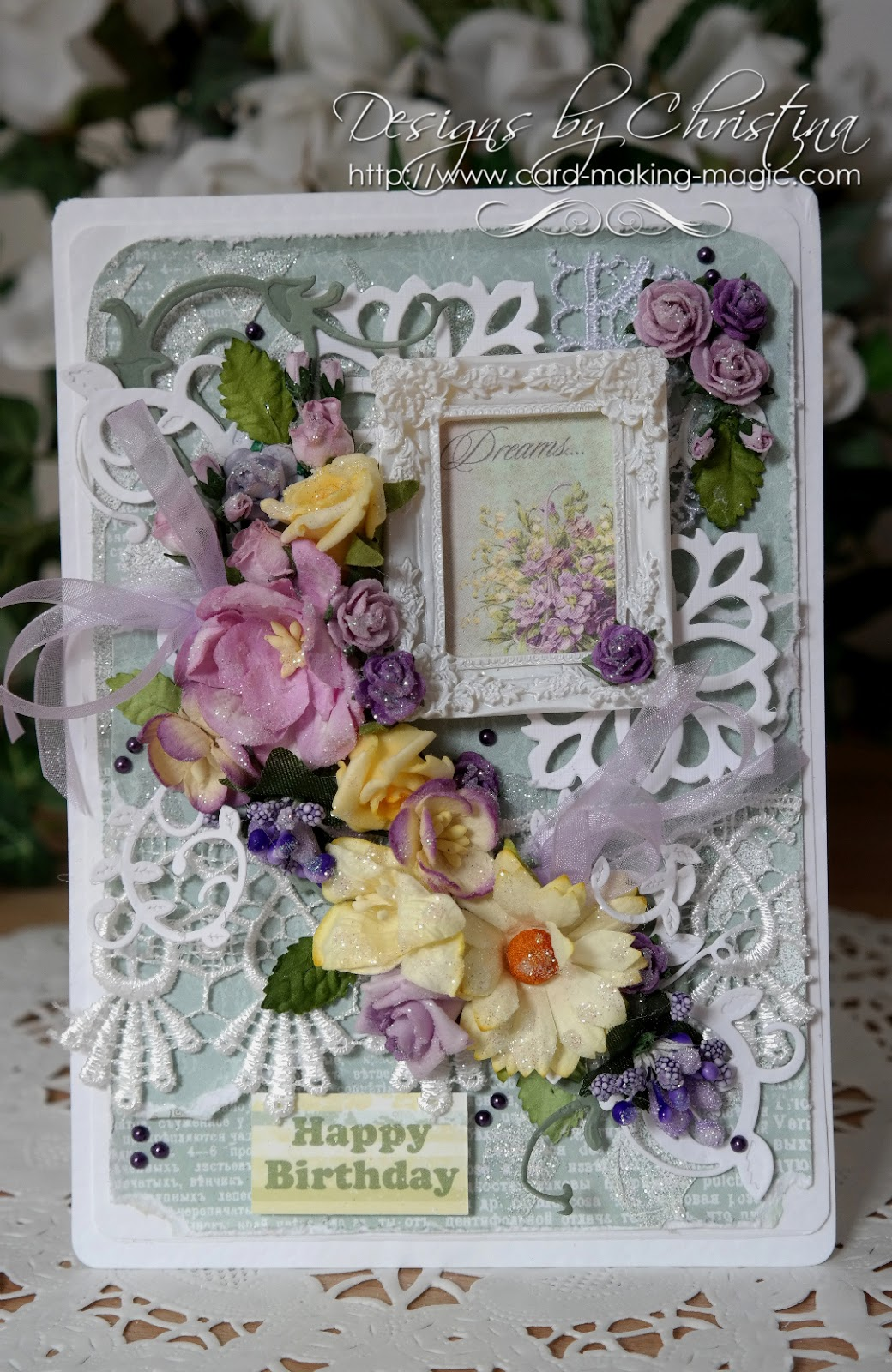 flowers ribbons and pearls my favorite card