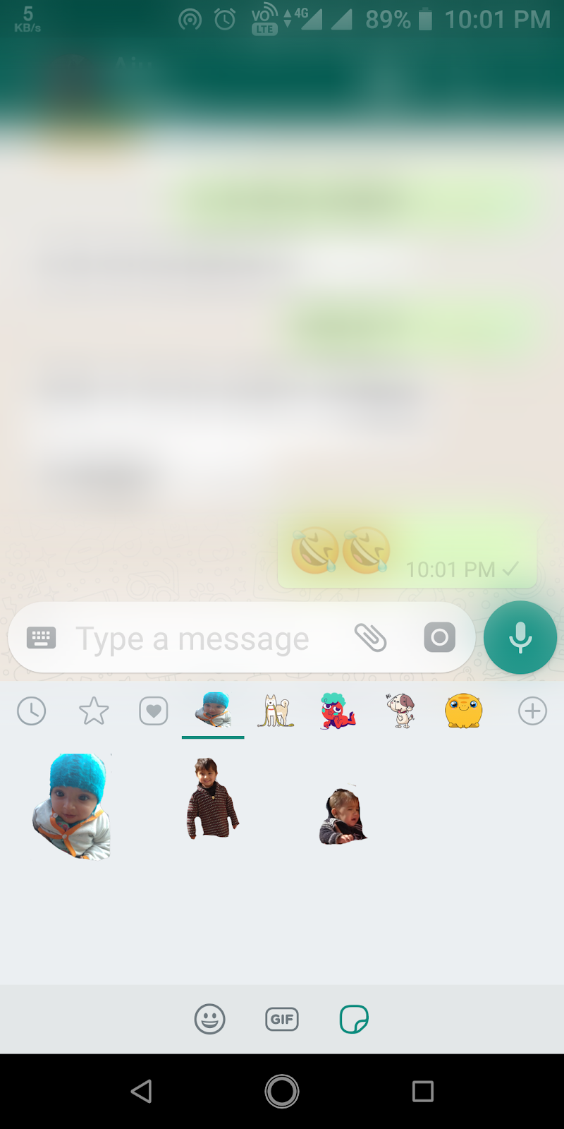 How to create own personal stickers on whatsapp