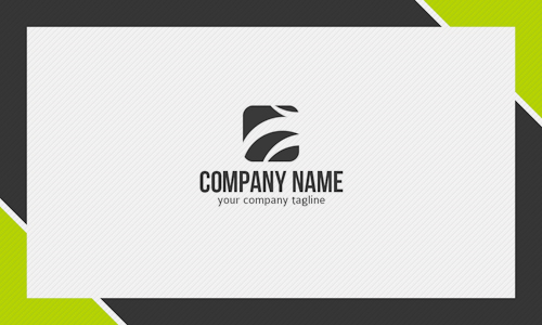Green And Black Business Card Design Template