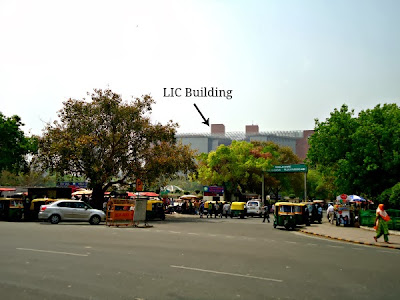 Connaught place LIC building