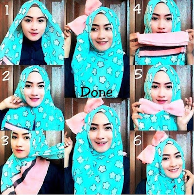 tutorial hijab pesta modern terbaru