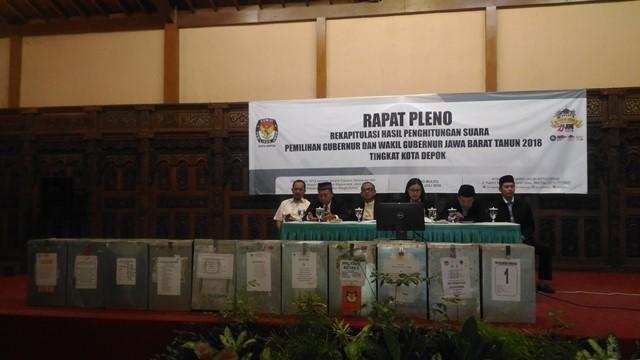 Pleno KPU, Pasangan Asyik Unggul di Kota Depok