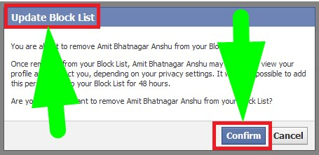 how to remove someone from restricted list on facebook
