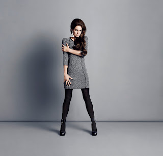Marl Dress with imitation leather trim, Lana Del Rey For H&M
