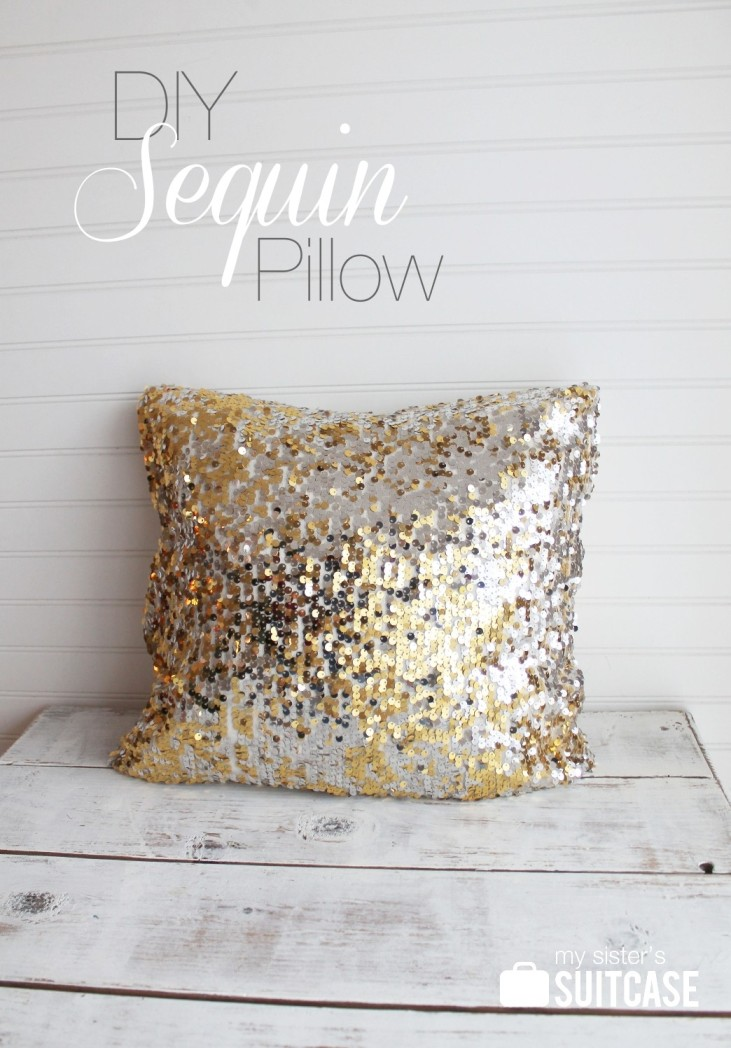 Diy Sequin Pillow My Sister S Suitcase Packed With