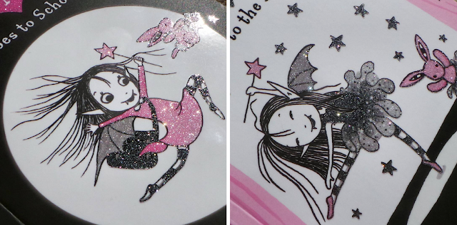 The Isadora Moon books have glittered covers