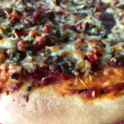 Pizza casera barbacoa