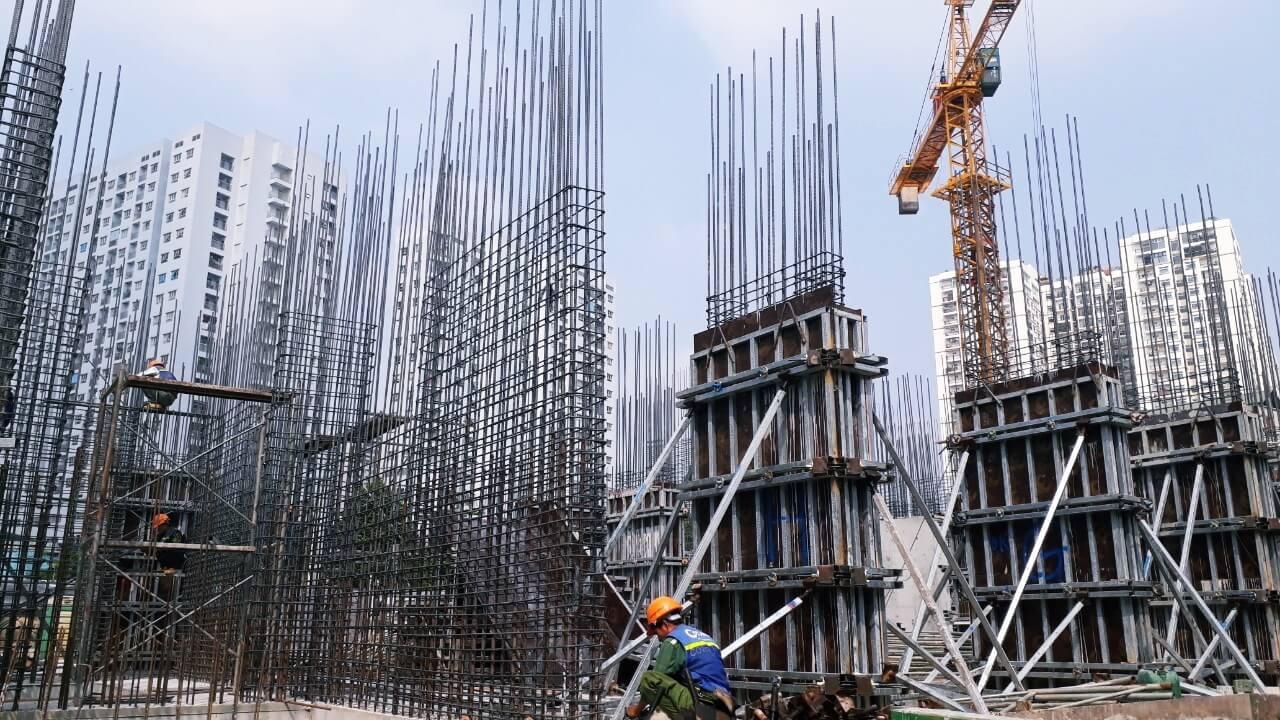 Hình ảnh tại công trường xây dựng của Amber Minh Khai