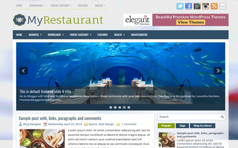 MyRestaurant Free Blogger Template