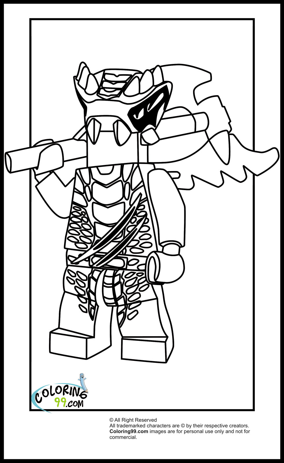 This is a picture of Exceptional ninjago coloring picture