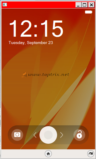 firefox os lock screen