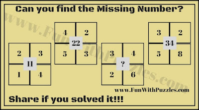 Very Easy Maths Number Brain Teaser in which your challenge is to find the missing number