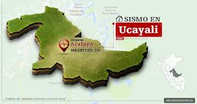 Temblor en Ucayali de 3.9 Grados (Hoy Domingo 24 Septiembre 2017) Sismo EPICENTRO Atalaya - IGP - www.igp.gob.pe