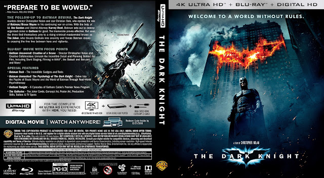 The Dark Knight 4k Bluray Cover