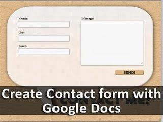 Cara Membuat Widget Contact Form Menggunakan Google Docs