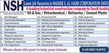 Latest #jobs #NASSER S  AL HAJRI CORPORATION (#NSH) 2017