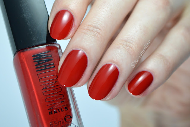 wah nails red swatch love my team furiousfiler