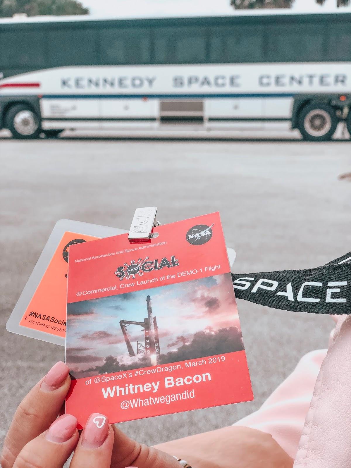 whitney's press pass for nasa