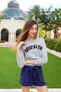 teen style, jcrew sweatshirt, brooklyn sweatshirt, sweatshirt and pearls, kate barlett