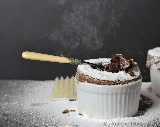 Gewürz-Schokoladen Soufflé